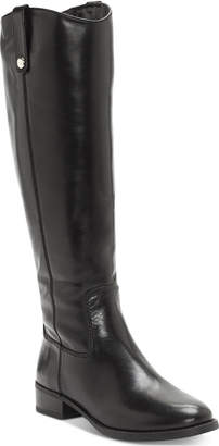 INC International Concepts Inc Fawne Wide-Calf Riding Leather Boots, Women Shoes