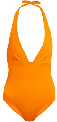 Talia Collins - The Hold Up Halterneck Swimsuit - Womens - Orange