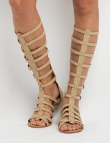 Charlotte Russe Knee-High Buckled Gladiator Sandals