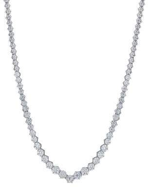 Lord & Taylor 14K White Gold Single Strand Necklace