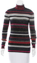 Diane von Furstenberg Striped Metallic Sweater