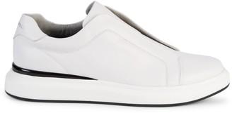 Karl Lagerfeld Paris Laceless Platform Leather Sneakers