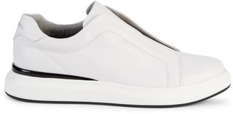 Karl Lagerfeld Paris Laceless Platform Leather Sneakers