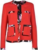 Emilio Pucci Contrast Trim Tailored Blazer