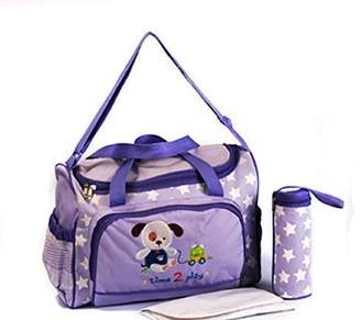 XXL 3 Pc. Baby Nappy Bag Diaper Bag/Travel Bag - Purple - Multiple Colours Available