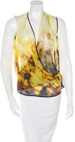 Robert Rodriguez Printed Silk Top