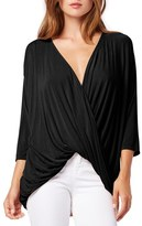 Michael Stars Drape Front Surplice Top