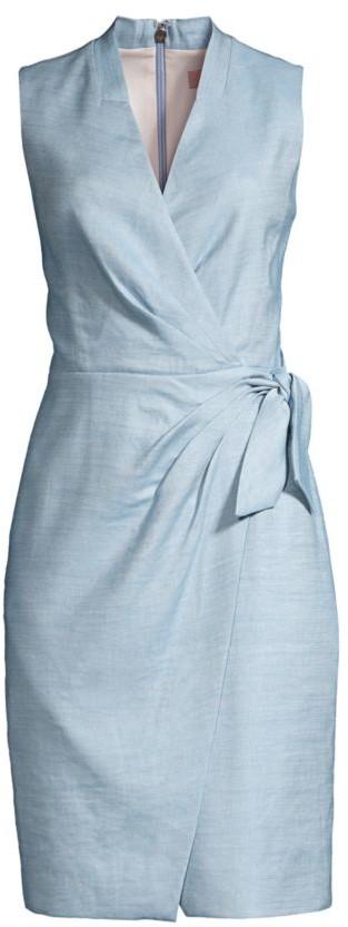Rebecca Taylor Wrap-Front Twill Dress