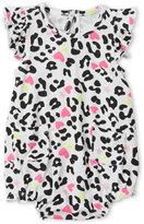Amy Coe Newborn/Infant Girls) White Leopard Sunsuit Bodysuit