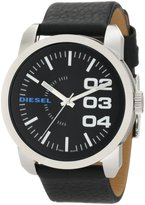 Diesel Men's DZ1373 Leather Quartz Watch with Dial