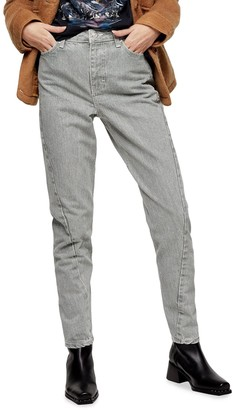 Topshop IDOL Twist Seam Mom Jeans