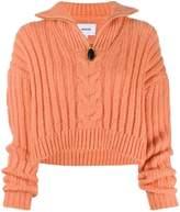 Nanushka Eria zip neck sweater