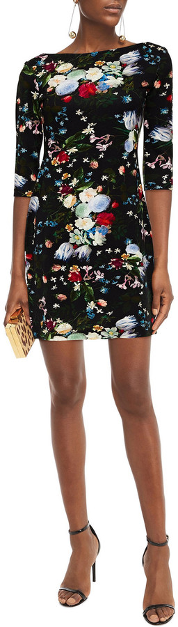 Thumbnail for your product : Erdem Reese Floral-print Stretch-jersey Mini Dress