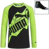 Puma Graphic Shirt and Ankle Socks Set - Long Sleeve (For Big Boys)