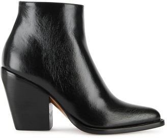 Chloé Rylee 100 Black Leather Ankle Boots