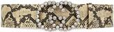 Thumbnail for your product : Gucci Wide python print belt with crystalGG