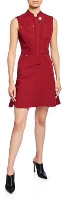 Derek Lam 10 Crosby Sleeveless Utility Flounce Dress
