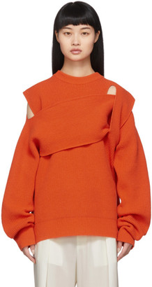 Bottega Veneta Orange Intrecciato Sweater