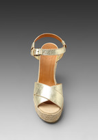Marc by Marc Jacobs Metallic Espadrille Wedge Sandal