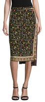 No.21 NO. 21 Asymmetrical Floral-Print Silk Skirt