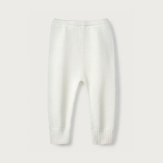The White Company Knitted Leggings, White, 12-18mths