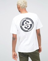 Stussy T-shirt With World Back Print