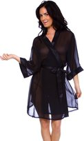Simplicity Sexy Plus Women's Sheer Robe Intimate Lingerie Sleepwear