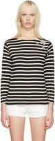 Saint Laurent Black Striped Marlon T-shirt