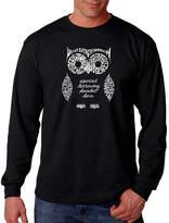 LOS ANGELES POP ART Los Angeles Pop Art Owl Word Art Long Sleeve T-Shirt