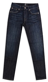 7 For All Mankind Boys' Slimmy Slim Straight Jeans - Little Kid