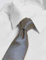 Marks and Spencer Pure Silk Cross Hatch Geometric Tie