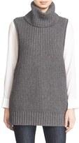 Autumn Cashmere Women's Lace Up Sleeveless Turtleneck Sweater