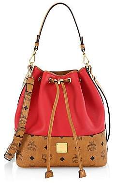 MCM Women's Small Wilder Drawstring Leather Bucket Bag