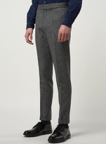 Topman Made in England Grey Seymour Skinny Suit Trousers