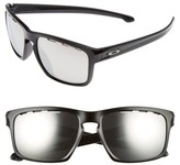 Oakley Women's Sliver(TM) Halo 57Mm Sunglasses - Black/ Chrome Iridium