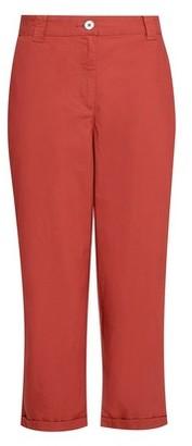 Dorothy Perkins Womens Terracotta Cropped Poplin Trousers