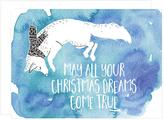 Dreaming Fox Christmas Card Set