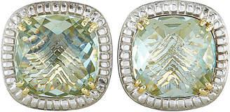 Charles Krypell 14K & Silver Amethyst Earrings