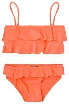 Melissa Odabash Neon Orange Frill Top Bikini