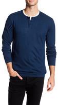 Autumn Cashmere Hidden Button Up Henley Shirt