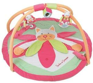 Doudou Et Compagnie DC1002 Play Mat with Cat Design Anise/Pink