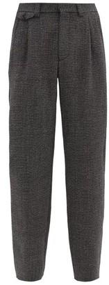 Marni High-rise Wool-tweed Wide-leg Trousers - Grey
