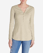 Eddie Bauer Women's Favorite Long-Sleeve Henley