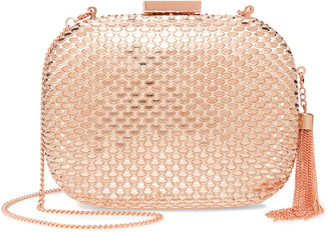 Olga Berg Elliana Textured Clutch