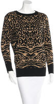 Torn By Ronny Kobo Abstract Pattern Knit Sweater