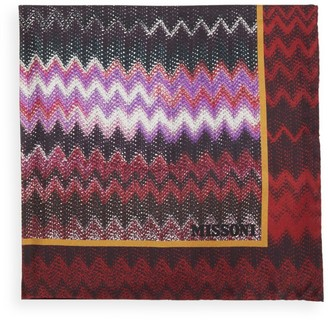 Missoni Ombre Zigzag Silk Pocket Square
