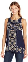 Max Studio Women's Printed Sleeveless Tank Top