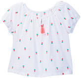 Lucky Brand Pineapple Embroidered Peasant Top (Little Girls)