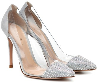 Gianvito Rossi Plexi 105 embellished pumps
