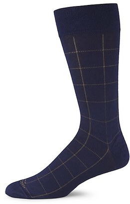 Marcoliani Milano Windowpane Check Modal Socks